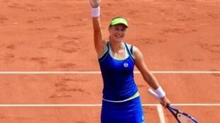 La rusa Ekatarina Makarova eliminó a Angelique Kerber, este 28 de mayo de 2017 en París.