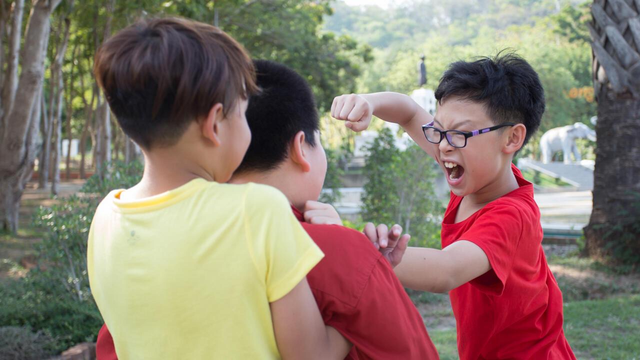 Un qui tient et l'autre qui tape, une scène ordinaire de harcèlement scolaire. (Image d'illustration)