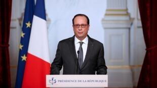 Le président Hollande, le 9 novembre 2016, à l'Elysée.