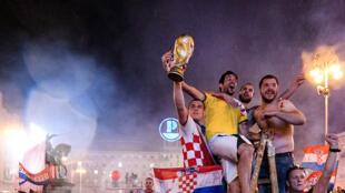 Zagreb, lors de la cérémonie de bienvenue de l'équipe de football croate