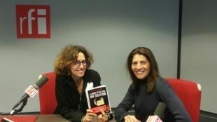 Anne Isabelle Tollet, qui lutte pour faire entendre la voix d'Asia Bibi, dans les locaux de RFI.