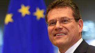 Maros Sefcovic, au Parlement européen, à Bruxelles, le 30 septembre 2014.