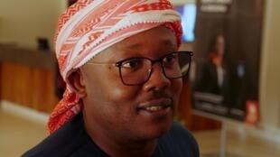 Umaro Sissoco Embaló, declarado vencedor pela CNE das presidenciais guineenses, marca presença em Addis Abeba.