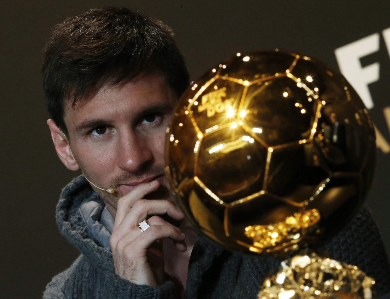 Lionel Messi dan wasan gaba na Barcelona, kuma gwarzon kwallon kafa na bana.