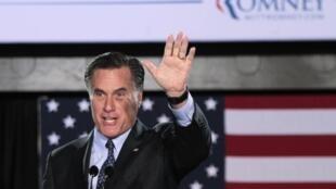 O pré-candidato Republicano, Mitt Romney, durante campanha em Wiscosin e Maryland, nesta terça-feira.