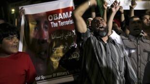 Islamistas protestan contra la destitución de Morsi, el 25 de julio de 2013.