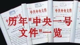 图为中国网络关于中央一号文件的配图