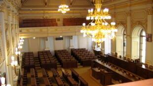 La Chambre des députés du Parlement de la République tchèque.
