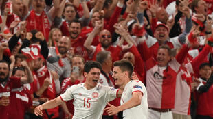 Denmark's win over Russia and passage into the Euro 2020 last 16 was celebrated wildly by the country's passionate support