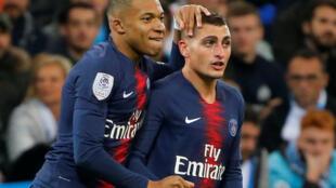 Kylian Mbappé et Marco Verratti (PSG). Les 2 joueurs étant blessés seront-ils au rv pour le quart de finale de Ligue des Champions contre l'Atalanta Bergame?