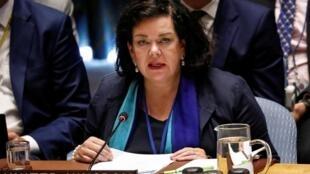 Karen Pierce, representante do Reino Unido na ONU, que preside o Conselho de Segurança no mês de Novembro 2019g