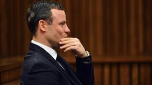 Le champion paralympique, Oscar Pistorius, lors de la reprise de son procès, le 30 juin 2014.