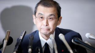 El presidente y CEO de Takata Corp., Shigehisa Takada, durante una conferencia de prensa en Tokio, Japón, este 26 de junio de 2017.