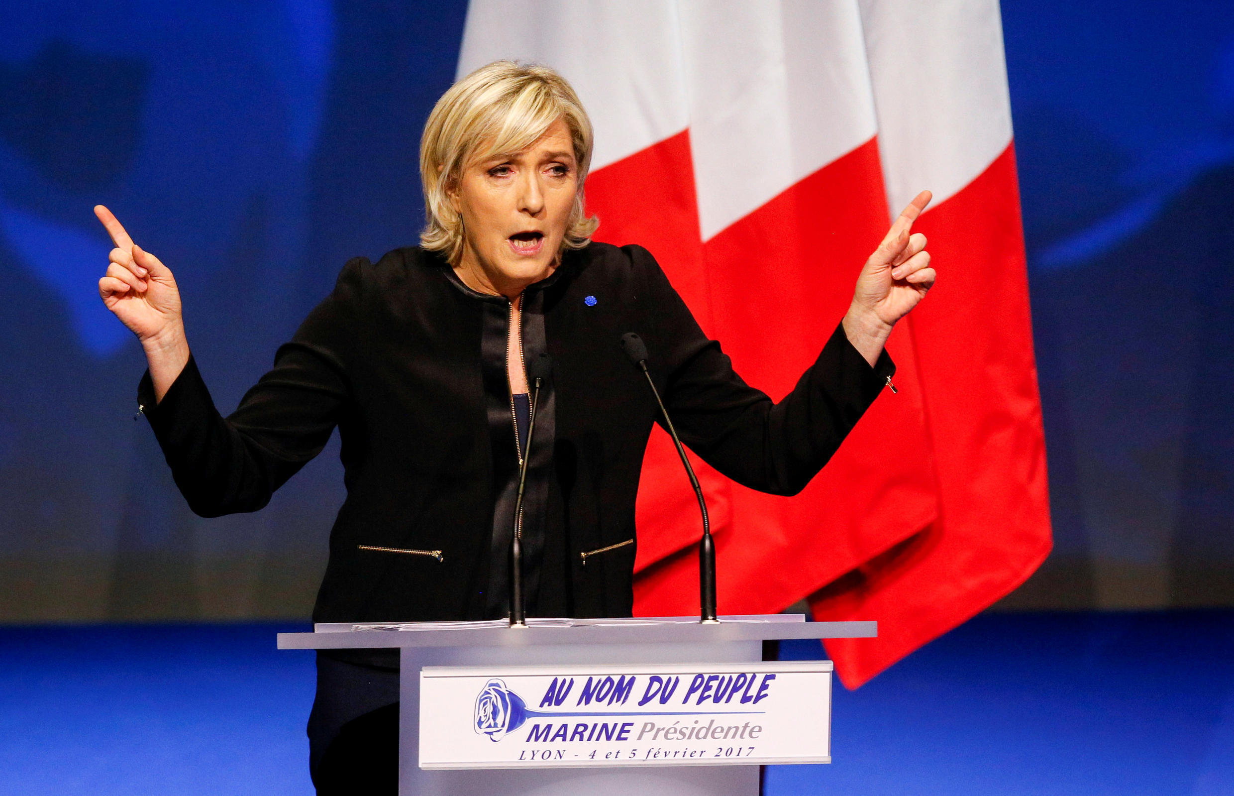 Front National presidential candidate Marine Le Pen