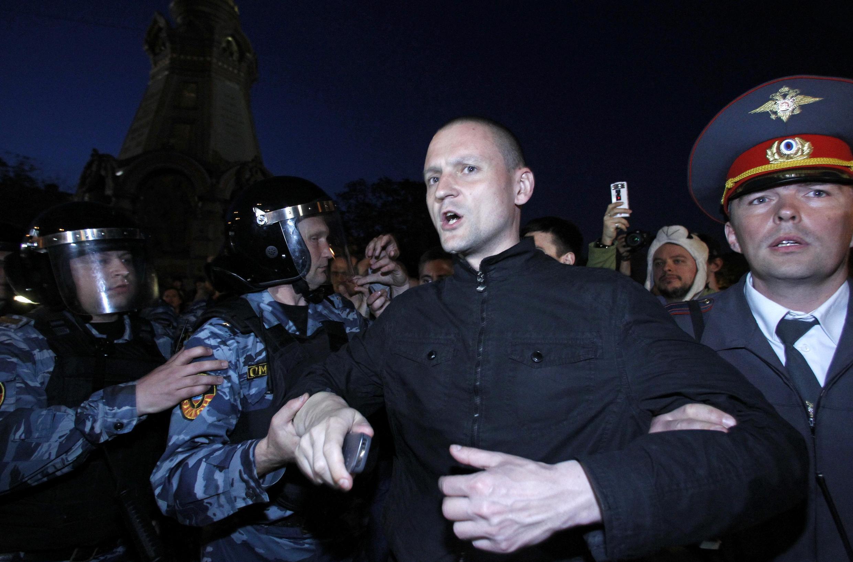 Сергей Удальцов - задержание на митинге 8 мая