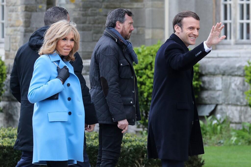 Shugaban Faransa Emmanuel Macron tare da matarsa Brigitte