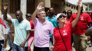 Jorge Carlos Fonseca em campanha eleitoral na Cidade da Praia