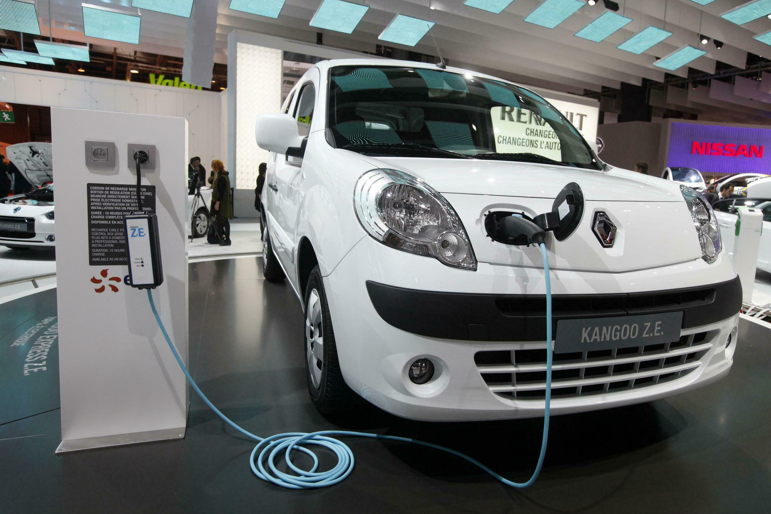 Electric Kangoo model from Renault