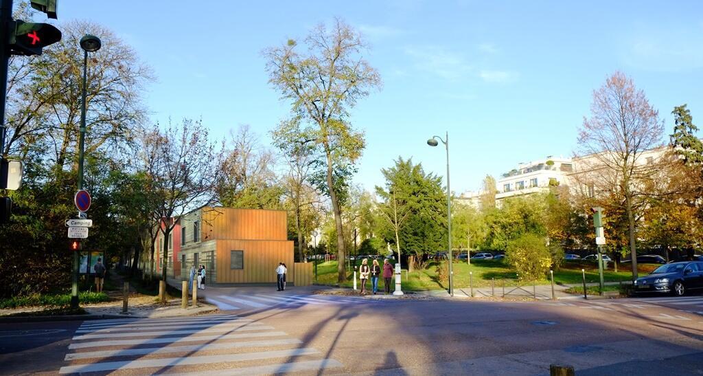 Vue en images de synthèse de l'emplacement du projet.