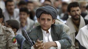 Cérémonie de Houthistes à Sanaa, le 12 octobre 2014.
