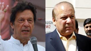 Le candidat du PTI Imran Khan et l'ancien Premier ministre Nawaz Sharif sont les principaux adversaires des élections législatives du Pakistan.
