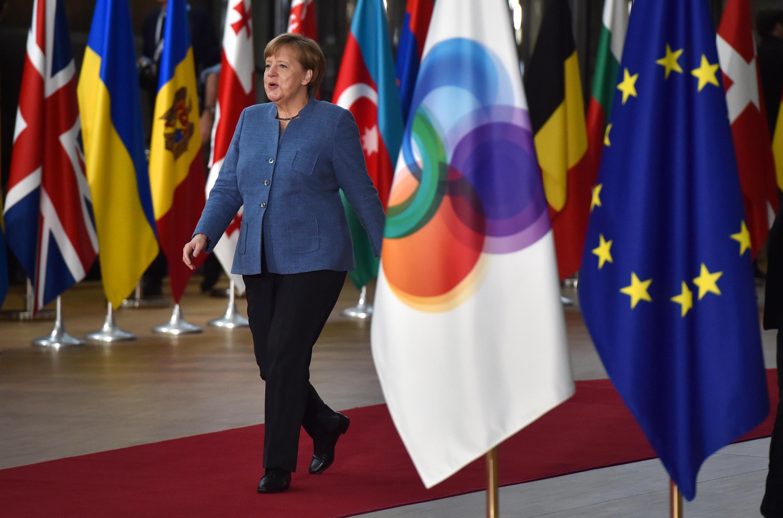 Thủ tướng Đức Angela Merkel tới dự thượng đỉnh Quan hệ Đối tác Đông Âu, Bruxelles, ngày 24/11/2017