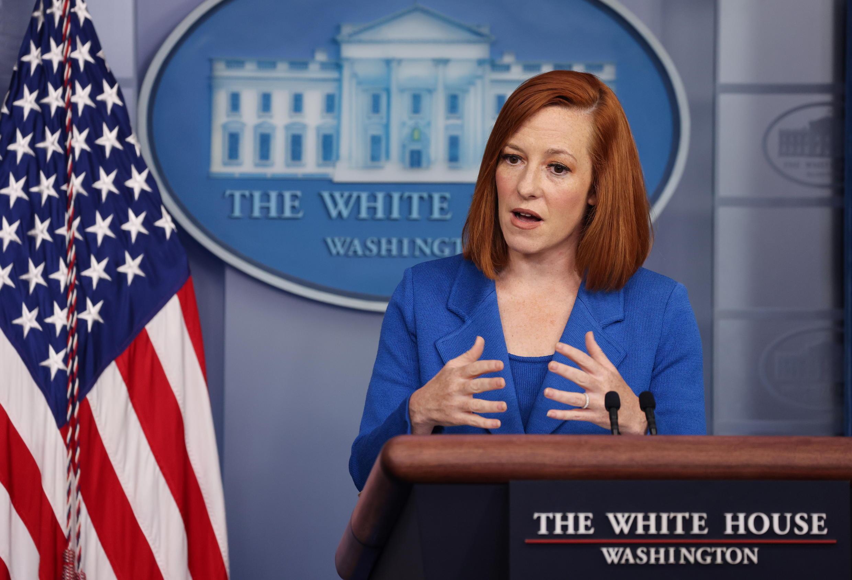 美国白宫发言人莎琦 Jen Psaki,