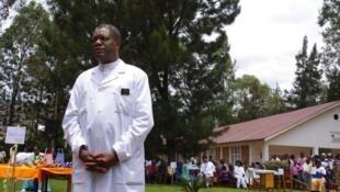 Le Dr Denis Mukwege ici à l'hôpital de Panzi, le 18 mars 2015.