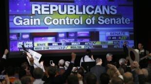 美国中期选举导致共和党占据国会参众两院 总统奥巴马将被迫与国会共制