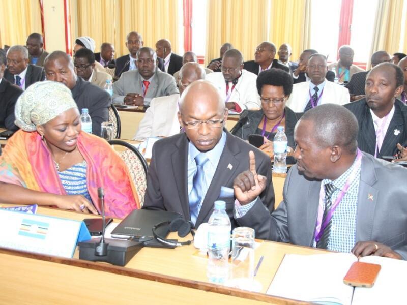 Wajumbe wa serikali ya Burundi katika mazungumzo ya Arusha