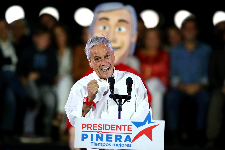 Le candidat conservateur à l'élection présidentielle chilienne, Sebastian Piñera, à Santiago, le 16 novembre 2017.