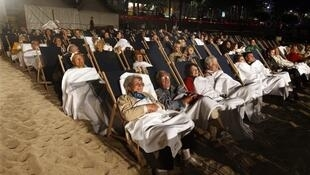 Cinema on the beach in Cannes