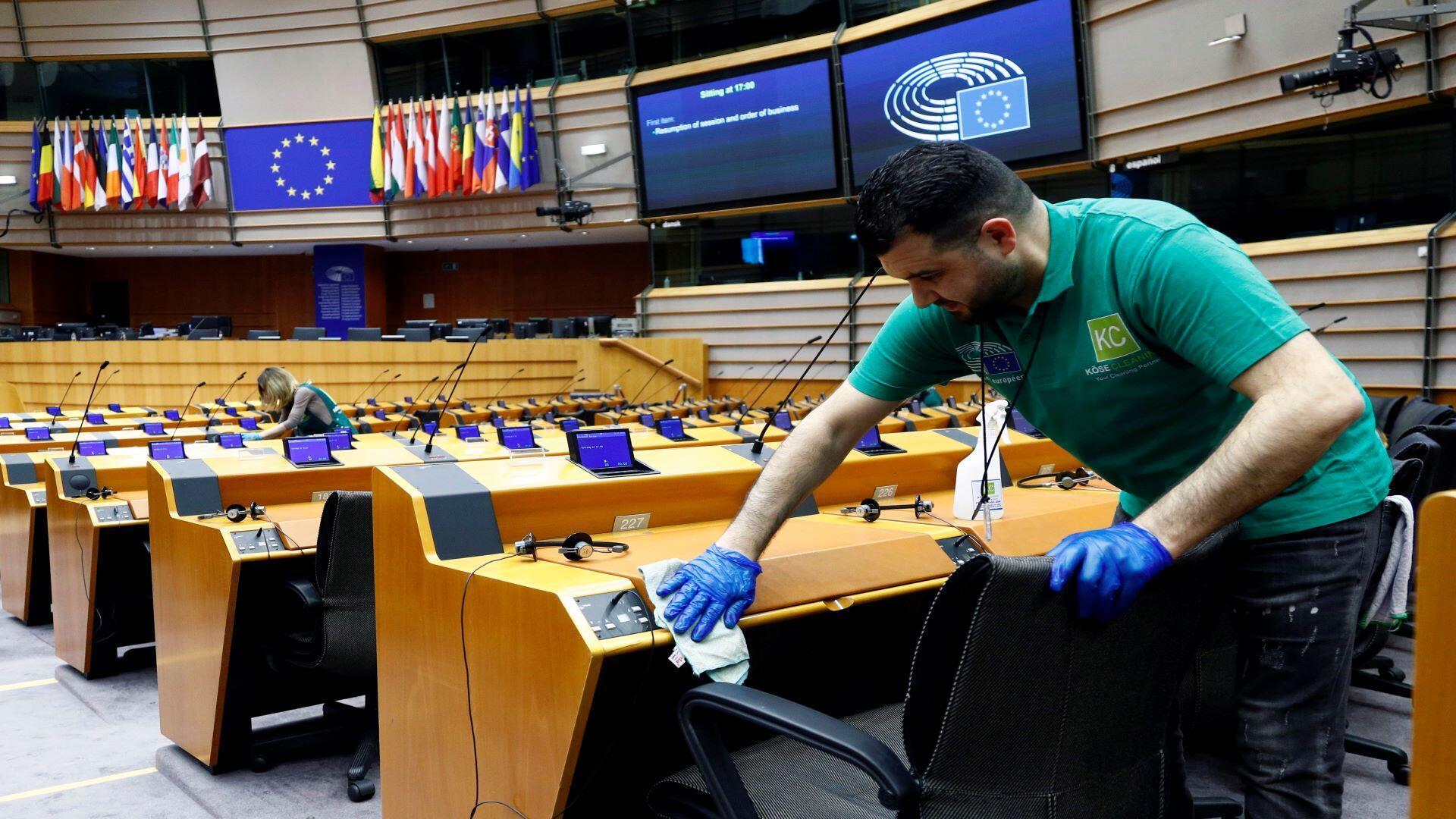 Le Parlement européen a pris des mesures de précaution concernant l'extension du Coronavirus. Le Parlement bruxellois a fermé ses portes le jeudi 19 mars 2020.