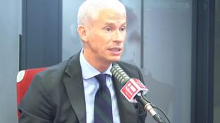 Franck Riester, ministre chargé du Commerce extérieur et de l'Attractivité dans les les studios de RFI, le 07 septembre 2020.