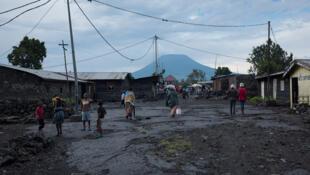 Kata ya deux lampes volcan Nyiragongo katika mji wa Goma DRC february 2016 (photo d'illustration).