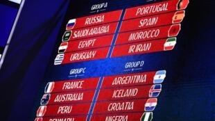 Sorteio da fase de grupos do Mundial 2018 que vai decorrer na Rússia.