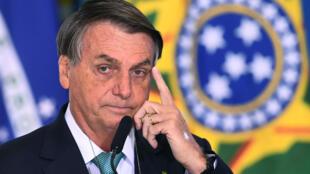 El presidente de Brasil, Jair Bolsonaro, el 1º de junio de 2021 en el Palacio Planalto, Brasilia