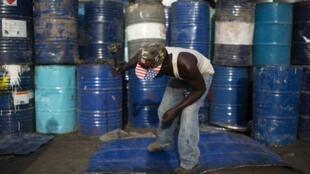 Oil barrels in Kamukunji, Nairobi