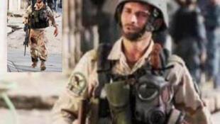 یک سرباز افغان هنگام درگیریهای روز یکشنبه 15 آوریل در کابل