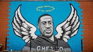 Mural que representa a George Floyd en Third Ward, Houston, barrio de su juventud, el de 2 de junio 2020.