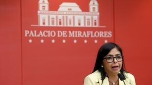 Bà Delcy Rodriguez, phó tổng thống Venezuela, tố cáo ông Almagro can thiệp vào chuyện nội bộ của Venezuela.