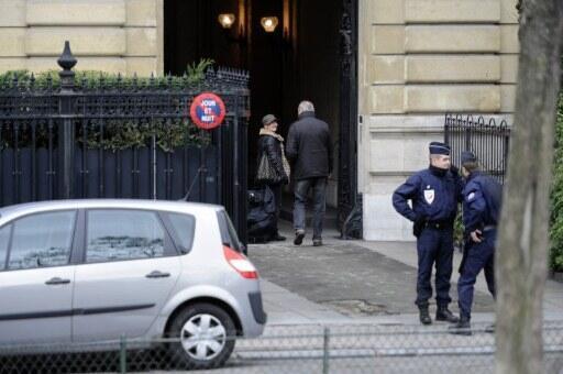 L'entrée de l'hôtel particulier de Téodorin Obiang, situé avenue Foch dans le VIIIe arrondissement de Paris.