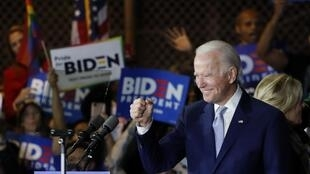 Joe Biden, lors du Super Tuesday, à Los Angeles, le 3 mars 2020.