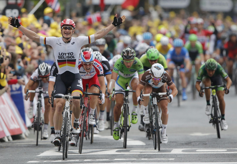A volta à França em bicileta 2014 aquando da sua passagem por Reims.