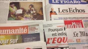 Primeiras páginas diários franceses 13/3/2013