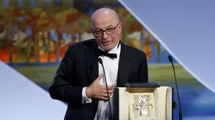 Jacques Audiard receives the Palme at  the Cannes Flim Festival