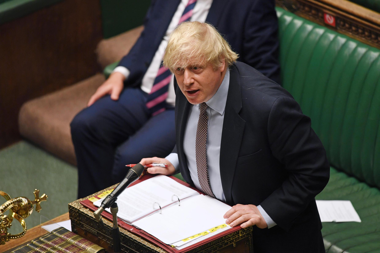 英國首相約翰遜資料圖片
