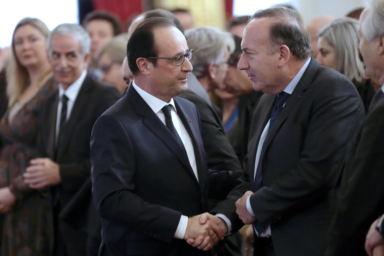 François Hollande et le patron du Medef Pierre Gattaz à l'Elysée, le 19 janvier 2015.