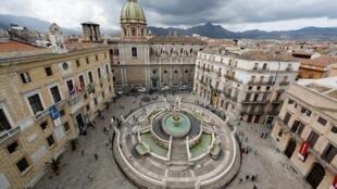 Vista de Palermo, capital da Sicília.