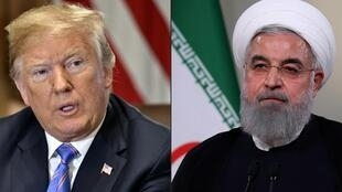 Donald Trump et Hassan Rohani
